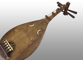 琵琶 4弦 象牙 和楽器 全長約90cm
